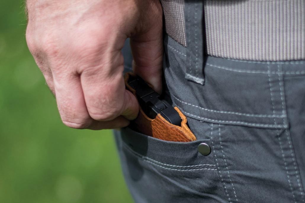 The gun is a half-inch wide