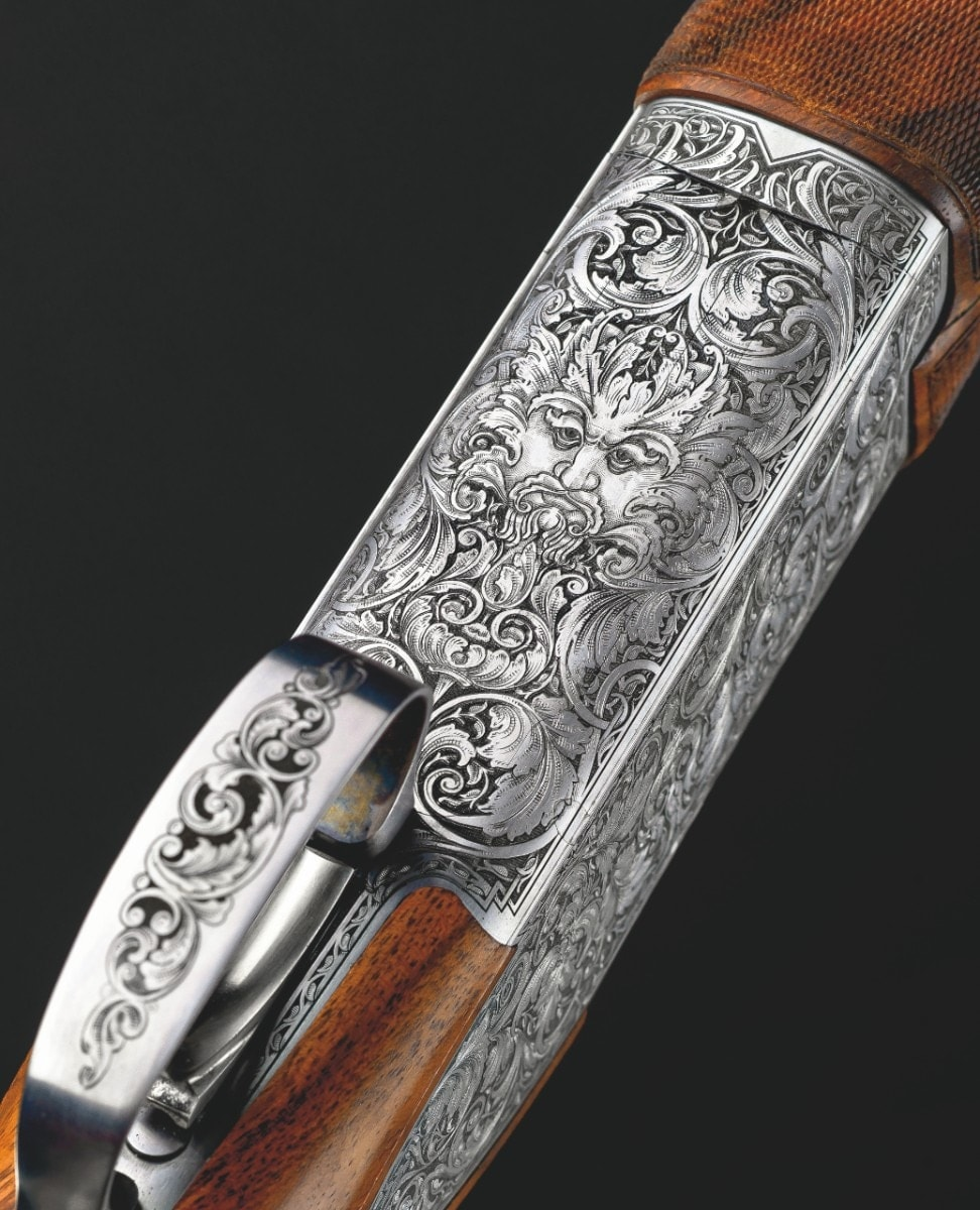 The engraving featured on the Grade E B15 Beauchamp. (Photo: Browning)