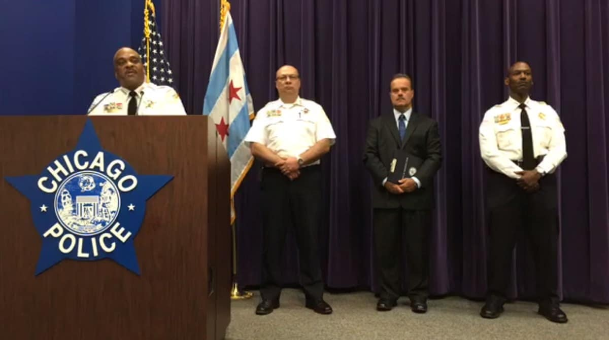 Chicago Police Superintendent Eddie Johnson speaks at a press conference on Wed., Aug. 24, 2017. (Photo: CPD/Facebook)