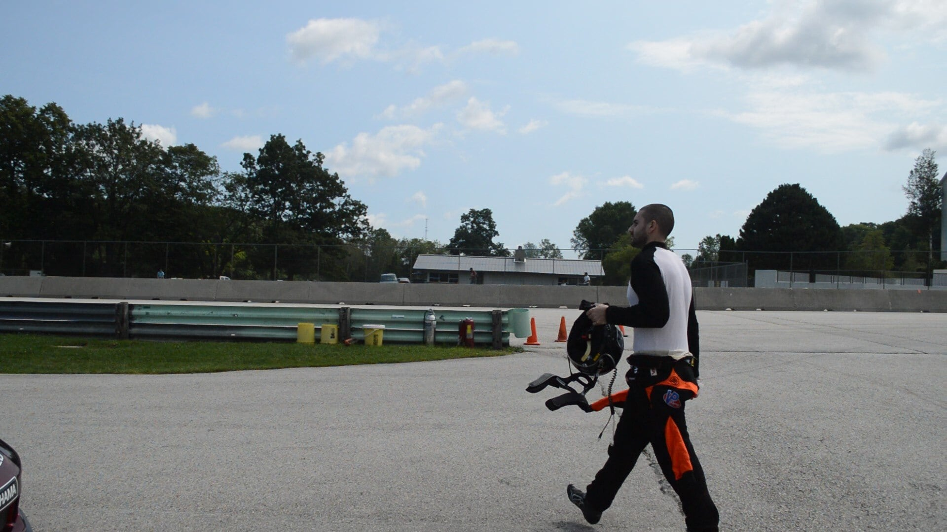 Anthony Imperato Jr heads onto the track prior to the start of the race. (Photo: Kristin Alberts)
