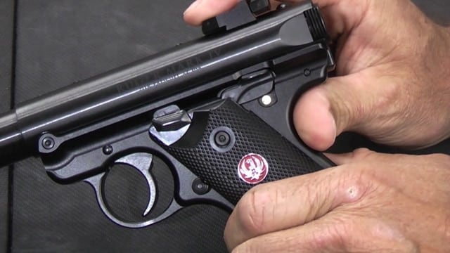 A Ruger Mark IV, like the the company recalled.