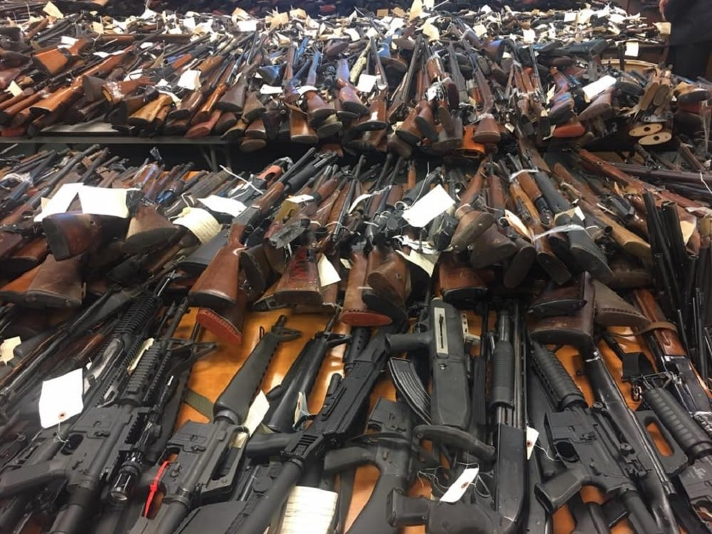 A total of 4,775 guns were collected at New Jersey's most recent gun buybacks. (Photo: Facebook)