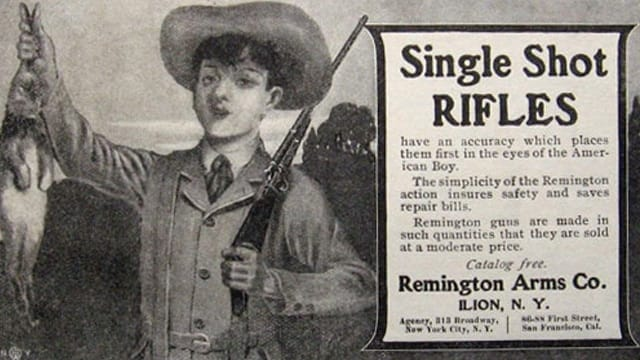 A Remington Arms advertisement from some time ago. (Image: Pinterest)