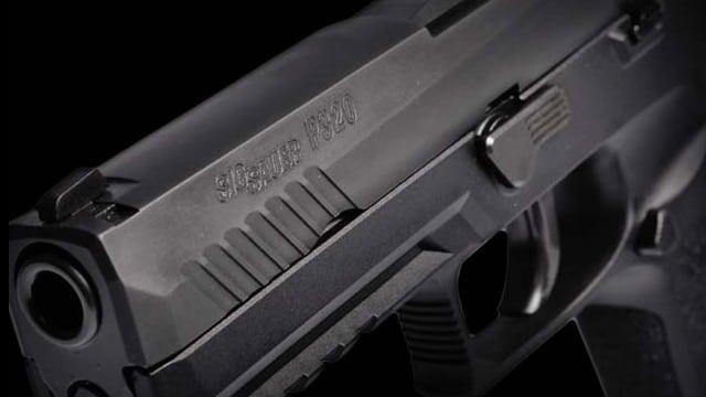 The business end of a Sig P320 handgun. (Photo: Sig Sauer)
