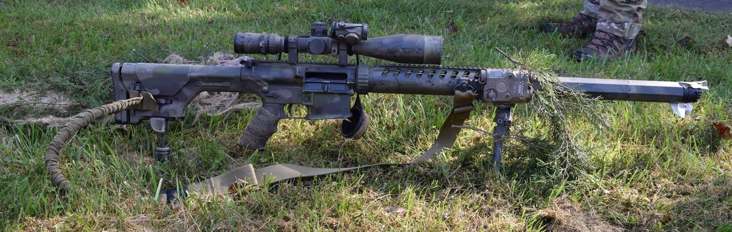 ATF SRT snipers shoot an Armalite AR10 rifle chambered in .308. This model has an integrally suppressed barrel. (Photo: Daniel Terrill/Guns.com)