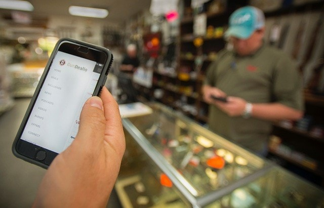 The app allows retailers to interface with potential customers alerting them to sales, promotions and events. (Photo: GunDealio)