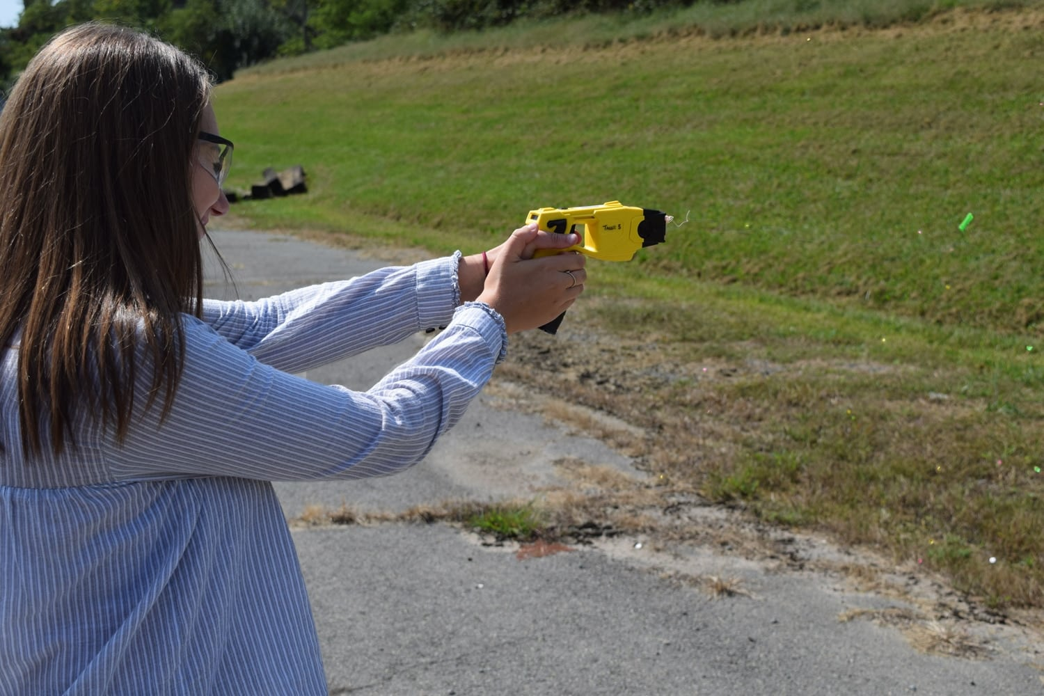 The ATF SRT team also has Tasers as part of their less lethal line. (Photo: Daniel Terrill/Guns.com)