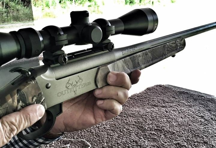 A shooter lines up the Outfitter G2 with his target. (Photo: Traditions' Firearms)
