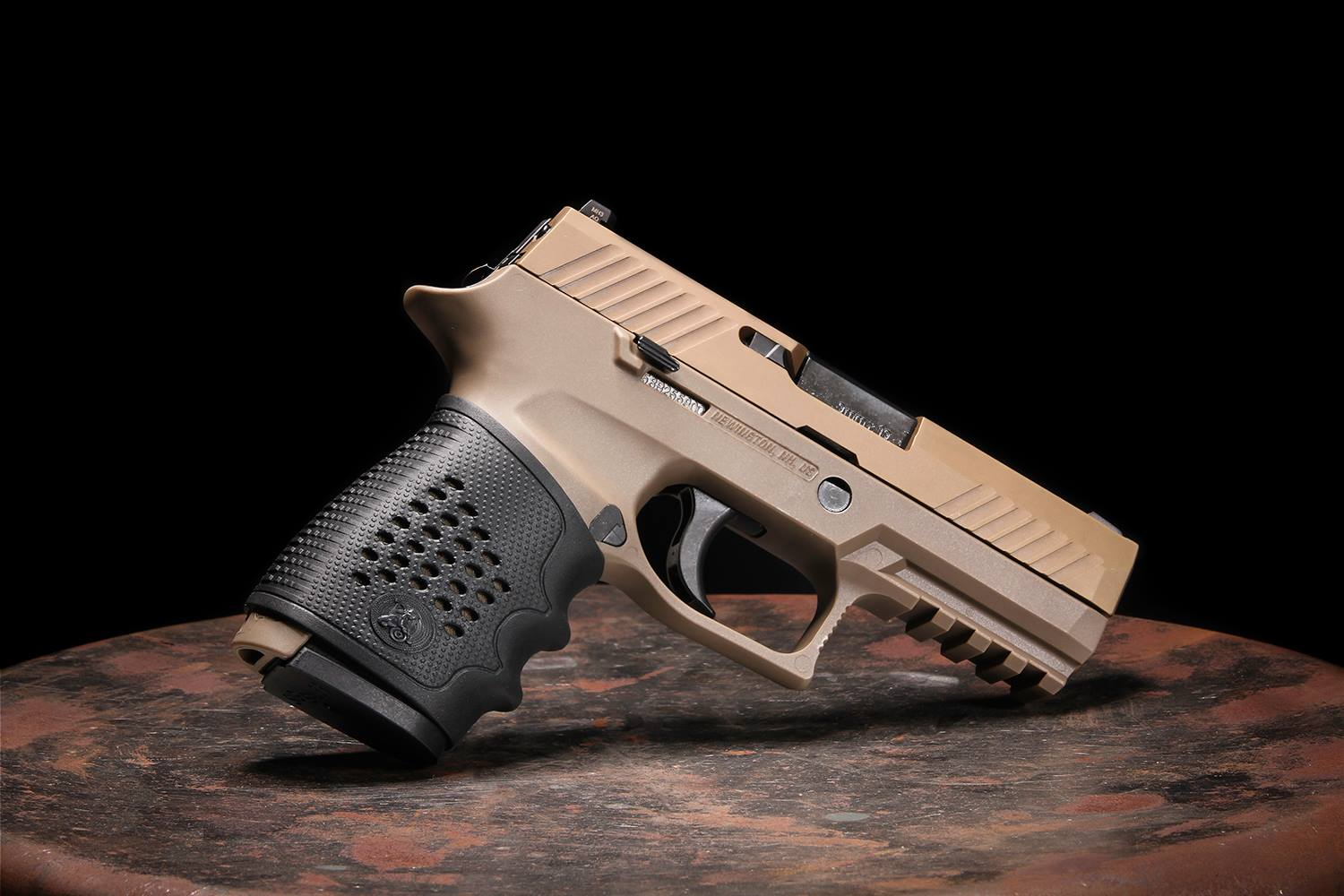 The Tactical Grip Glove slides over the grip area with little fuss, according to the company. (Photo: Pachmayr)