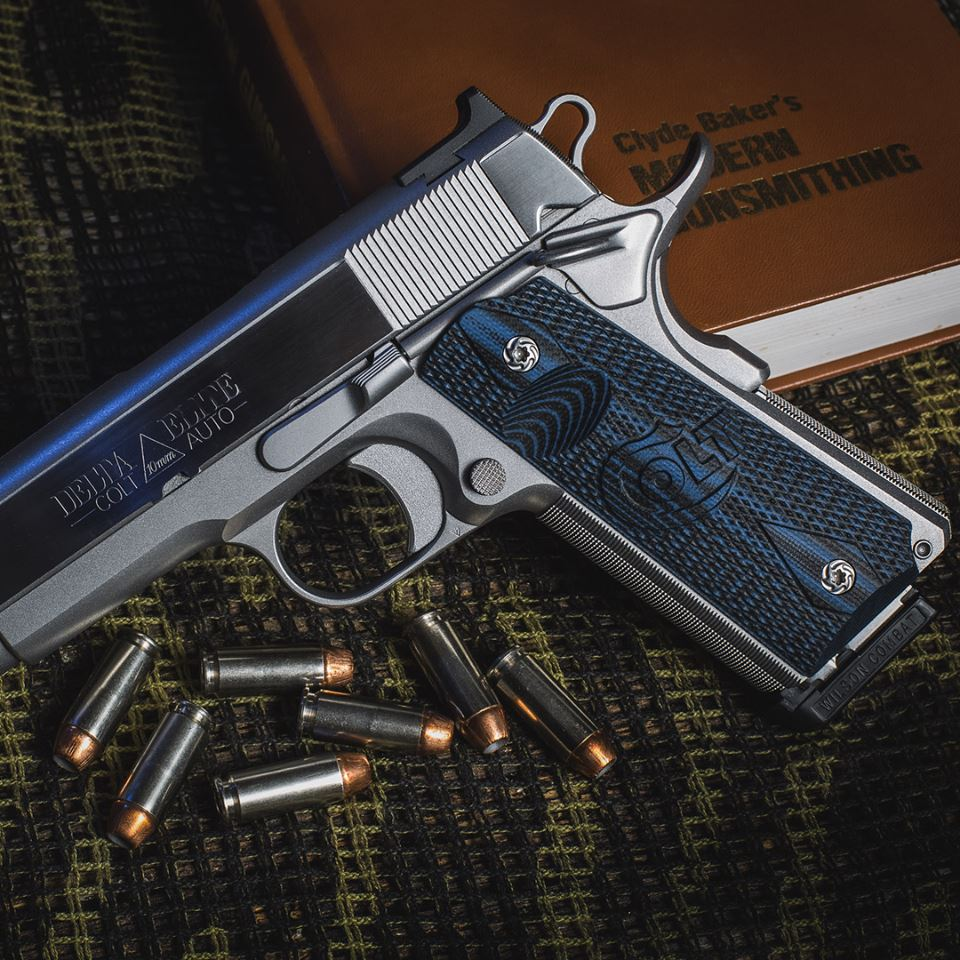 The Colt Signature Series grips boast four color patterns to include black and blue, pictured above. (Photo; VZ Grips)