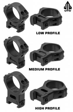 The UTG scope mounts come in (Photo: Leapers)