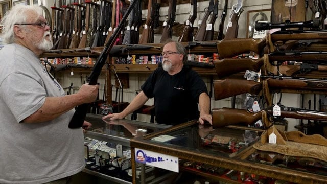 Gun sales recover in August after a weak summer for retailers.(Photo: Greg Barnette/Record Searchlight)