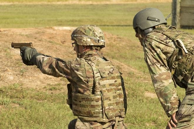 The Army is conducting an Initial Operational Test of the Sig Sauer P320 as the new XM17 Modular Handgun System this month at Fort Bragg, N.C. (Photos: Lewis Perkins/U.S. Army)