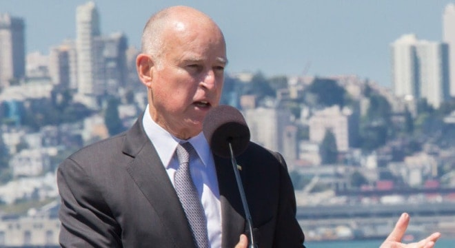 Gov. Jerry Brown, a Democrat, is set to decide on a pair of bills changing how California's more than 3,000 FFL's do business. (Photo: Gov. Brown's office)