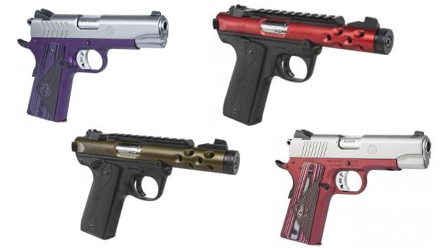 Consumers wanting a pop of color will find Ruger's Mark IV and SR1911 finished in an . (Photo: Davidson's)