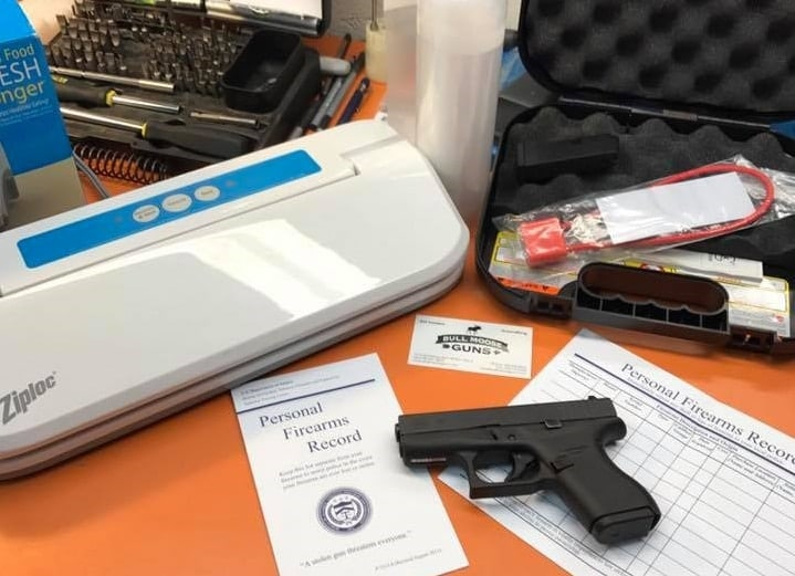 All you need is a firearms record, some index cards, and a food sealer (Photos: Bull Moose Guns)