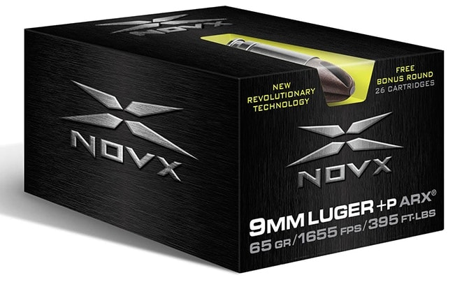 NovX unveiled the all-new ARX Engagement Self Defense ammo series alongside a CrossTrainer model of ammunition. (Photo: Personal Defense Network)