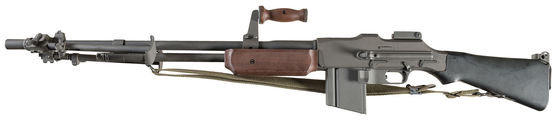 The 1918A3 OOW is a semi-auto Browning Automatic Rifle introduced in 1996, and Rock Island has donated one in an auction to benefit Hurricane Harvey survivors. (Photo: RIA)