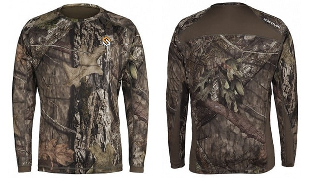 The Nexus Carbon Active Weight Top features paneled shoulders for a more comfortable fit. (Photo: ScentLok)