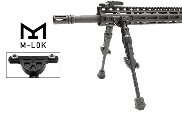 The Recon Flex directly attaches to M-LOK or Keymod points. (Photo: Leapers)