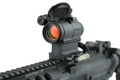 The optic operates using three AAA batteries. (Photo: Aimpoint)