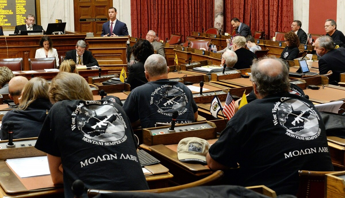 Members of the West Virginia Citizens Defense League attended a hearing for a constitutional carry bill in 2016. (Photo: Charleston Gazette-Mail)