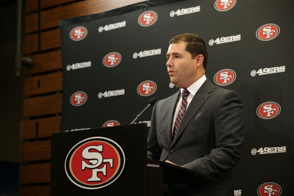 """49ers CEO Jed York speaks about the franchise's new """"Pledge for a More Understanding and Safer America,"""" this week at Levi Stadium (Photo: 49ers)"""