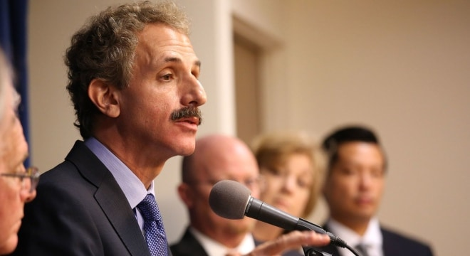 Los Angeles City Atty. Mike Feuer is among several prosecutors who signed a letter earlier this month against partial suppressor deregulation. (Photo Glenn Koenig/Los Angeles Times)