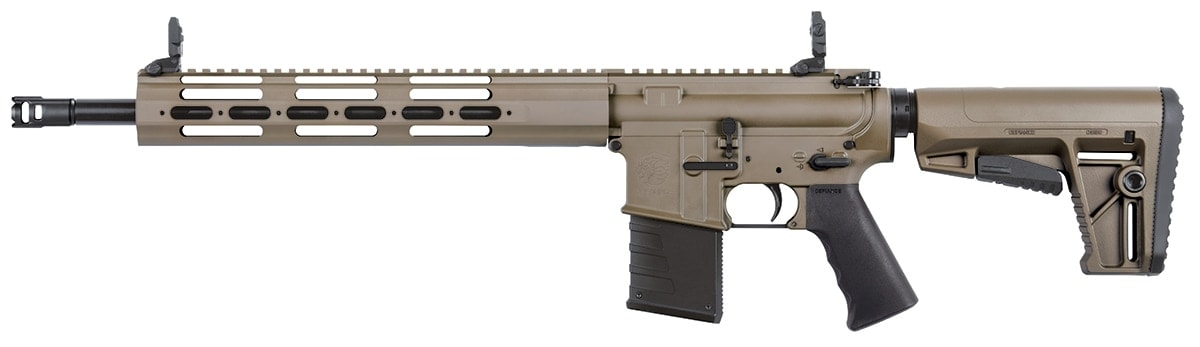 The Defiance DMK22C comes in standard black, OD Green or Flat Dark Earth, pictured above. (Photo: Kriss USA)