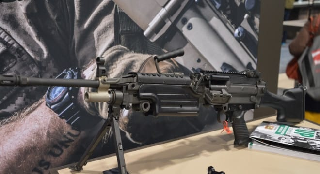 Based on the full-auto FN Minimi squad automatic weapon, the semi-auto-only M249S was introduced to the civilian market in 2015 while a shorter Para model followed earlier this year (Photo: Chris Eger/Guns.com)