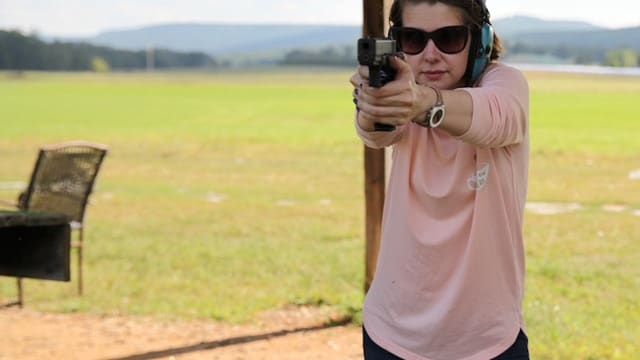 The G17, though large, is still comfortable to shoot even for petite shooters. (Photo: Jacki Billings/Guns.com)
