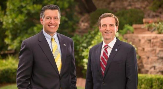 Gov. Brian Sandoval and Nevada Attorney General Adam Laxalt in a 2014 file photo. (Photo: Reno Gazette-Journal)
