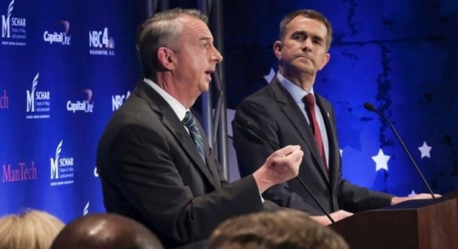 Candidates Ed Gillespie, a Republican, and Lt. Gov. Ralph Northam, at the Virginia gubernatorial debates. (Photo: Bonnie Jo Mount/The Washington Post)