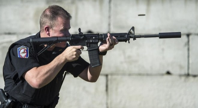 Spokane police are moving to equip all their ARs with suppressors after workers comp claims for hearing loss because of gunfire (Photo: Dan Pelle / The Spokesman-Review)