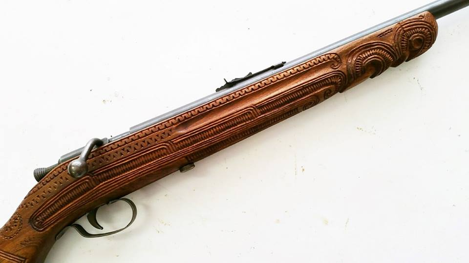 """""""This unique little Slazenger 1B was another that was donated during the Amnesty. Its Australian owner carved the woodwork while living in New Zealand"""" (Photo/caption: LSAFM)"""
