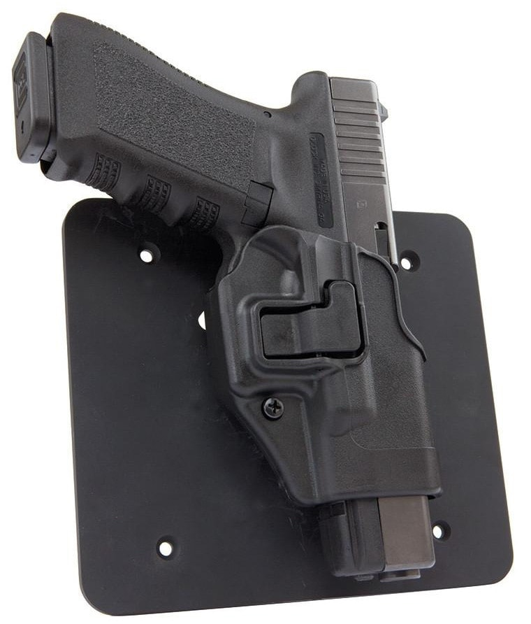 The Under Desk Concealment plate mounts a Serpa holster to desks, counters, tables and other areas gun owners may need a pistol mount(Photo: UnderTech Undercover)
