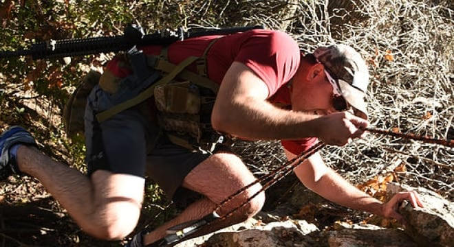 """""""If you can't do a few pull-ups, scramble up and down rough/rocky hills and push through wooded areas, some of the obstacles will be difficult to overcome,"""" says the site."""