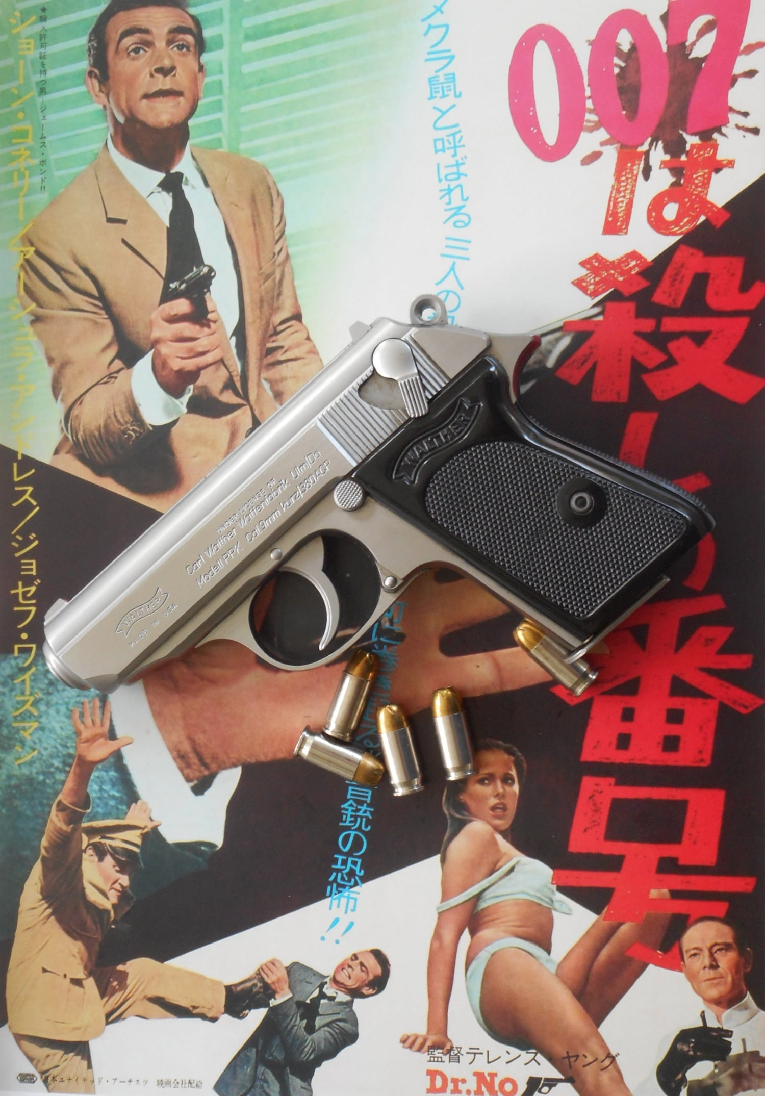 The Walther PPK above the film that introduced it in Bond's world. (Photo: Francis Borek/Guns.com)