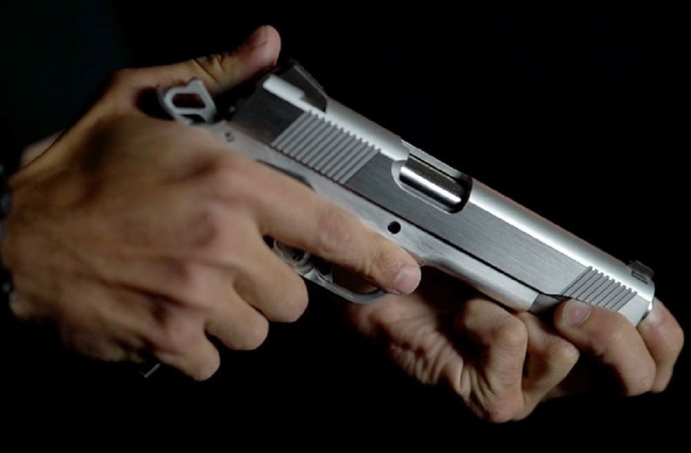 An M1911 handgun made with the Ghost Gunner milling machine. (Photo: Defense Distributed)