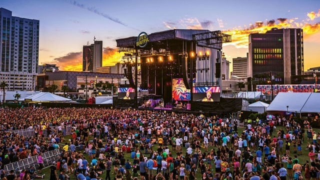 The Las Vegas shooter may have targeted the Life Is Beautiful Festival in downtown Las Vegas last month. (Photo: Life Is Beautiful Festival)