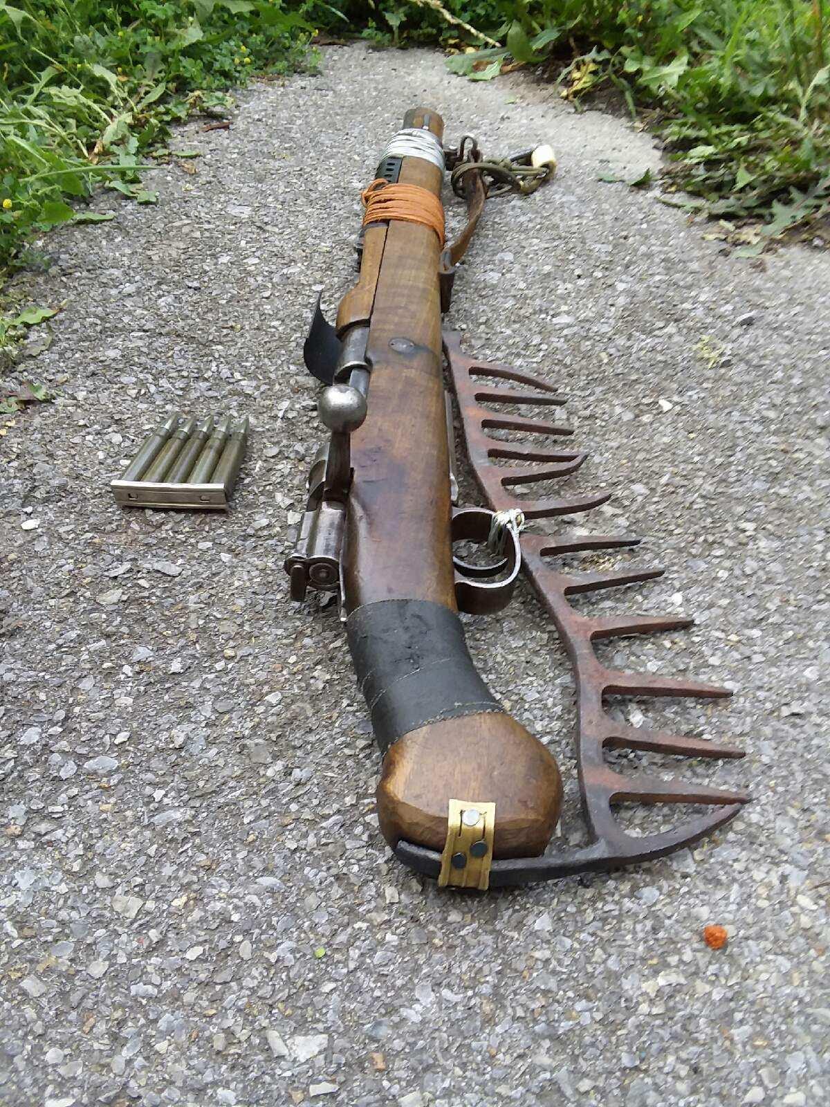post apocalyptic style custom rifle builds mauser AR-15 4