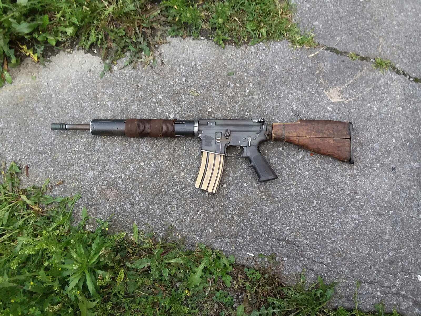 post apocalyptic style custom rifle builds mauser AR-15 5