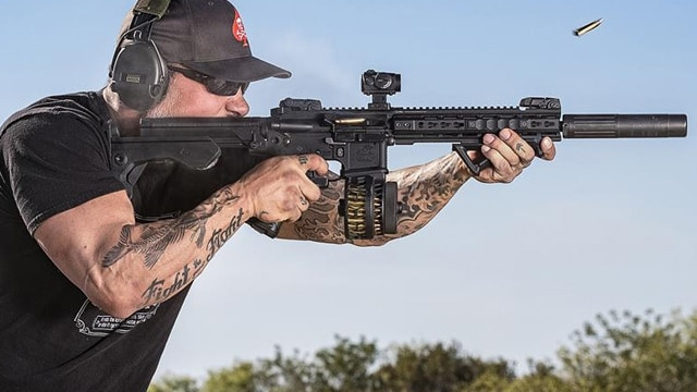 A Slide Fire bump stock in action. (Photo: Slide Fire/Facebook)
