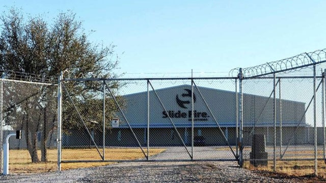 Slide Fire Solutions is headquartered in the tiny central Texas town of Moran. The 270-strong community told the New York Times this week they are standing behind the company and its founder, Airforce veteran Jeremiah Cotter. (Photo: Joy Lewis/Abilene Reporter-News)