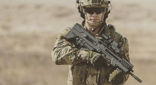 Slathered with an M-LOK forend and a Picatinny rail for accessories and optics, the rifle comes in two barrel lengths (17 and 20-inches) and four color patterns (Sniper Gray, OD Green, Black, and Flat Dark Earth) for a wide array of options (Photo: IWI)