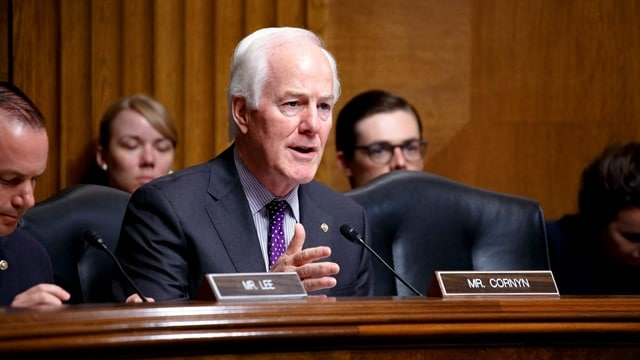 Texas Republican Sen. John Cornyn introduced a bipartisan bill to fix the federal background check system Thursday, less than three weeks after mass shooting at a church in his home state. (Sen. John Cornyn/Facebook)
