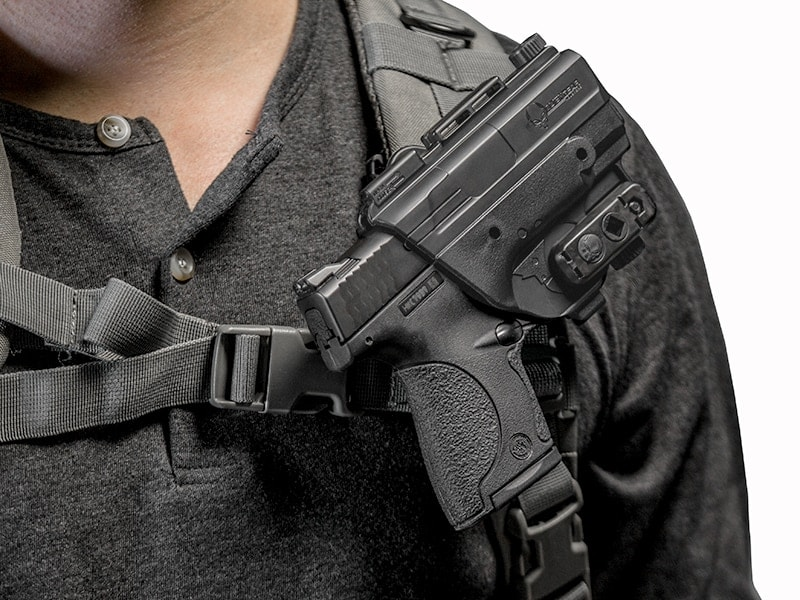 The ShapeShift Backpack Holster is allows gun owners to carry their firearms on their packs. (Photo: Alien Gear)