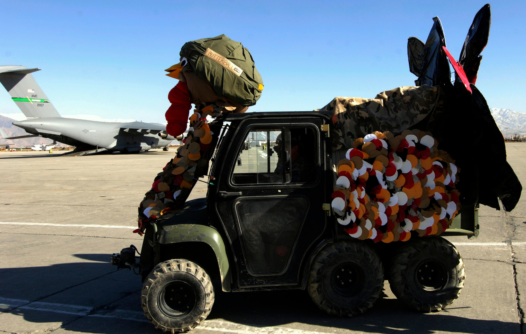 The Thanksgiving Day Parade at Bagram Air Base, Afghanistan, 2009 (Photo: U.S. Air Force)
