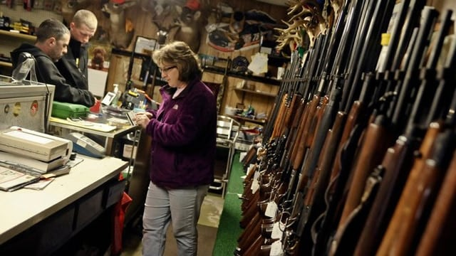 NICS background checks exceeded 200,000 on Nov. 24, 2017 -- the busiest single day in the system's two-decade history. (Photo: Larry Deklinski/The News-Item via the Associated Press)