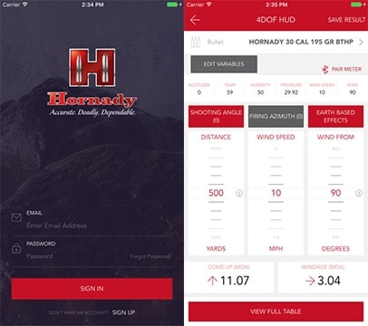 The Hornady App allows users to calculate ballistic data offline, when no wireless connectivity is available. (Photo: Hornady)